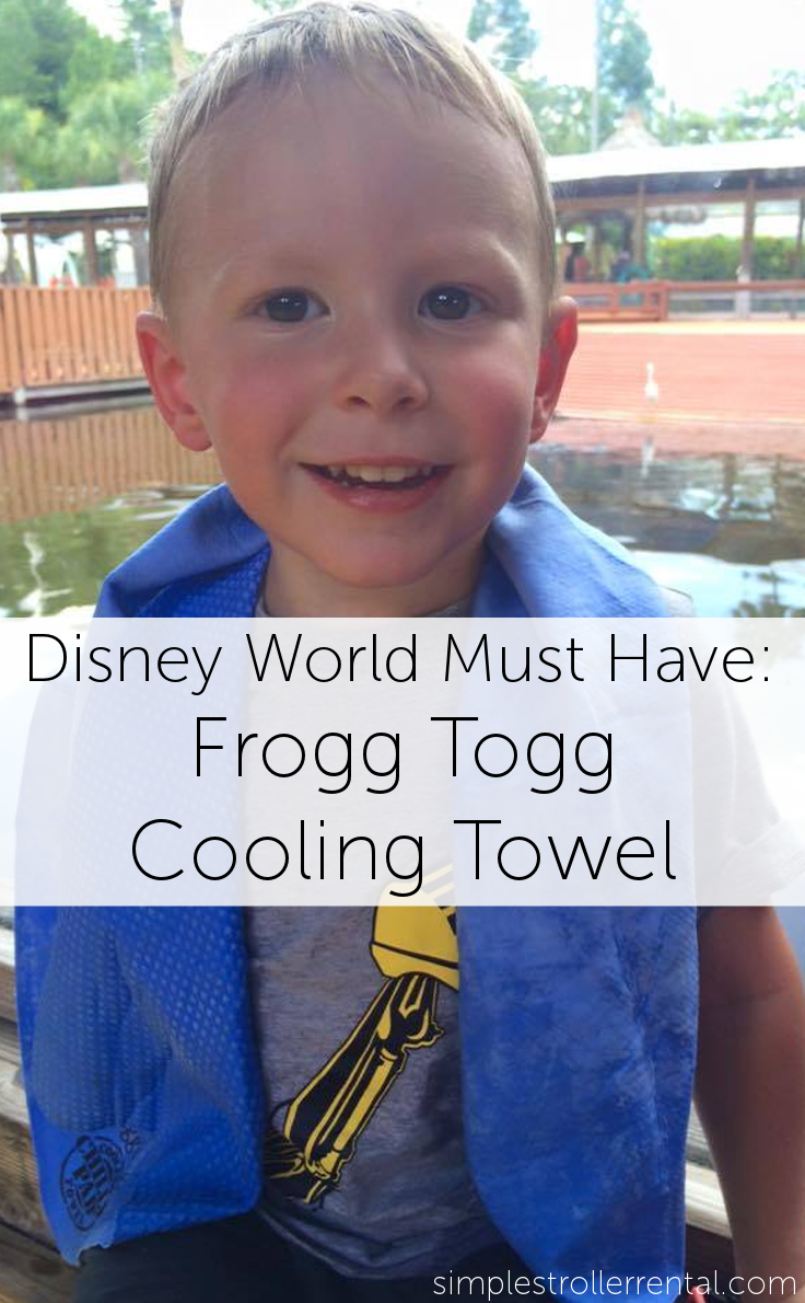 How to Keep Your Kids Cool on Your Disney, Sea World, or Universal Vacation: Frogg Togg Cooling Towels - Available from Simple Stroller Rental - simplestrollerrental.com
